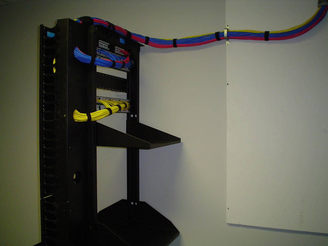 Laba Communications Data Cablingphone System Speakers And Audio Video Room Wiring Shelving Rack Finished Commercial Project